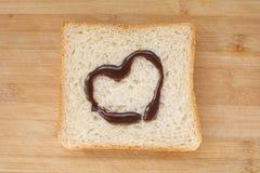 Brood en hart Stock Foto's