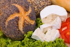Brood en kaas Stock Foto's