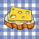 Brood en kaas vector illustratie
