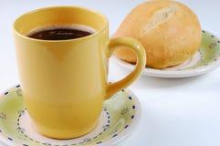 Brood en koffie Stock Foto