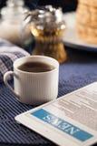Brood en koffie Royalty-vrije Stock Foto