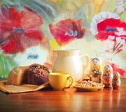 Brood en melk Royalty-vrije Stock Foto's