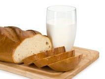 Brood en melk Stock Fotografie