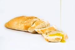 Brood en Olie Stock Foto's