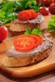 Brood en pastei Royalty-vrije Stock Fotografie