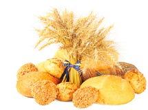 Brood en tarwe royalty-vrije stock afbeelding