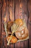 Brood en tarwe stock foto