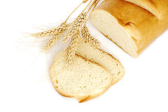 Brood en tarwe Stock Afbeelding
