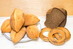 Brood en Traditionele gebakjes Stock Afbeelding