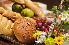 Brood en vruchten Royalty-vrije Stock Fotografie