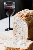 Brood en wijn Stock Afbeeldingen