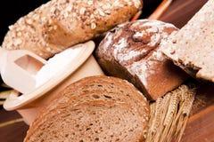 Brood en zijn componenten Stock Afbeelding