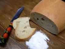 Brood en zout Royalty-vrije Stock Foto's