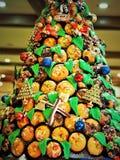 Brood gemaakte Kerstmis Decolation in het Restaurant stock foto's