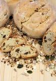 Brood, graangewassen en zaden Royalty-vrije Stock Afbeeldingen