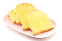 Brood met boter en suiker Royalty-vrije Stock Foto's
