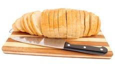 Brood met een mes Stock Fotografie