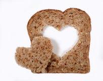 Brood met hartvorm Stock Foto's