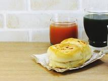 Brood met het varkensvleesmayonaise en vruchtensap van de baconham Royalty-vrije Stock Afbeelding