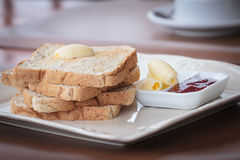 Brood met jam Stock Foto