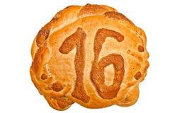Brood met nummer 16 Stock Fotografie