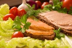Brood met pastei Royalty-vrije Stock Afbeeldingen