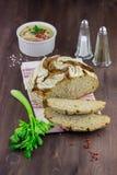 Brood met pastei Stock Afbeelding