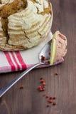 Brood met pastei Stock Foto's