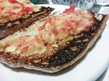 Brood met tomaat Stock Foto's