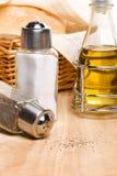 Brood, olijfolie en kruiden Royalty-vrije Stock Fotografie