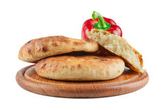 Brood op een houten raad stock foto's