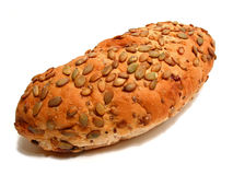 Brood op witte achtergrond royalty-vrije stock foto's
