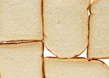 Brood op witte achtergrond Stock Afbeeldingen