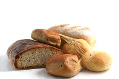 Brood, tarwe stock afbeelding