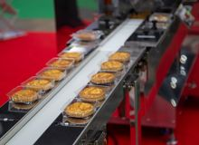 Brood/toost/broodjesverpakkingsmachine stock foto's