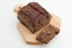 Brood van bruin brood op houten raad Royalty-vrije Stock Fotografie