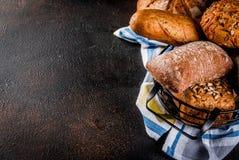Brood van de verscheidenheids het eigengemaakte korrel Stock Foto