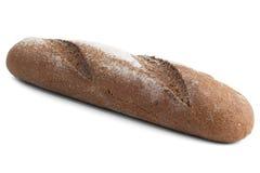 Brood van zwart roggebrood met bloem Royalty-vrije Stock Fotografie