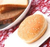 Brood voor hamburger Stock Fotografie