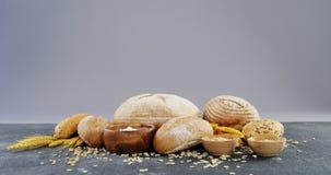Broodbroden met tarwekorrels stock video