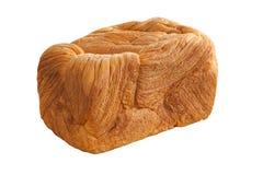 Broodbrood op witte achtergrond wordt geïsoleerd die Stock Afbeelding