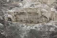 Brooding limestone deposit in a dystopian landscape, Yellowstone Stock Photography