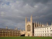 Brooding skies over Cambridge University Stock Photo