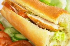 Broodje 2 van de kip Stock Foto