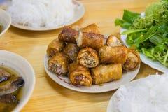Broodje Cha - het voedsel van Vietnam stock foto