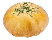 Broodje dat met eieren wordt gevuld Stock Foto's