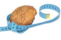 Broodje en het meten van band Stock Foto's