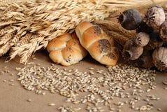 Broodje en tarwe Royalty-vrije Stock Afbeelding