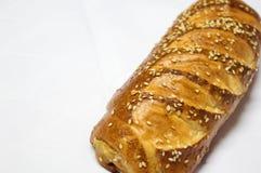 Broodje, Gebakje op Witte Achtergrond wordt geïsoleerd die Stock Afbeelding