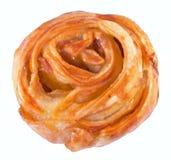 Broodje met appel het vullen Stock Afbeelding